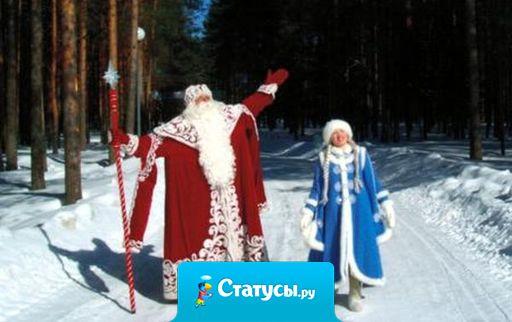 Мороз приятно щиплет нос. Рукой, нырнувши под тужурку, приятно щиплет Дед Мороз,..за попу юную Снегурку.