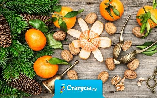 Новый год - мандарин мне в рот! Дед мороз - оливье мне в нос!
